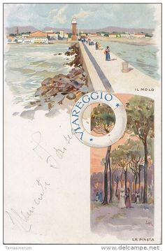 Viareggio dipinta da Leopoldo Metlicovitz.