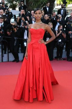 Jasmine Tookes attends the screening of 'Girls Of The Sun ' during the annual Cannes Film Festival at Palais des Festivals on May 12 2018 in. Jasmine Tookes, Zac Posen, Style Couture, Couture Fashion, Bijoux Chopard, High Fashion Models, Cocktail Outfit, Palais Des Festivals, Victoria's Secret