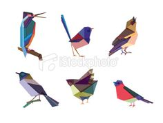 Polygonal Birds Royalty Free Stock Vector Art Illustration