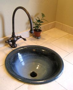Hand thrown sinks