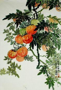 (North Korea) Tomatoes by Kim Jae -hyeok (1940-  )
