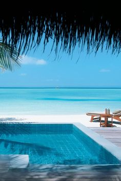 Beachside pool.  Perfection.