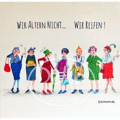 Holzbild - Barbara Freundlieb - WIR ALTERN NICHT - Deko Unlimited - Exklusive Geschenke & Dekoration, 19,95 €