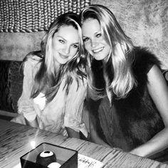 Candice Swanepoel and Erin Heatherton