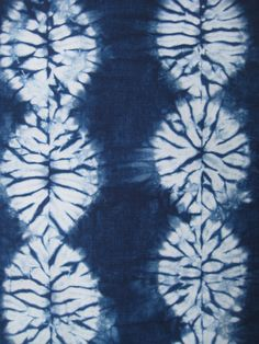 Indigo Shibori Fabric Hand Dyed Fat Quarter by CapeCodShibori