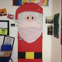 school door decorations   ... door decoration ideas / Christmas Santa classroom school door