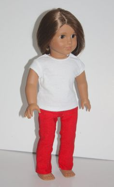 """18"""" Doll Red Skinny Jeans Fits 18"""" Doll, Doll Clothes fit dolls like American Girl"""