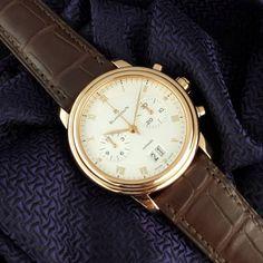 ⌚Villeret Valor⌚  #Blancpain #Villeret #Chronograph ref. 6885 3642 55B in 18k Rose Gold.