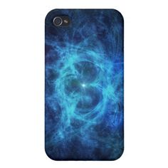 Abstract Blue Nebula Case For iPhone 4