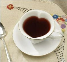 heart shaped coffee