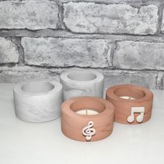 Concrete Candle Holders, Modern Candle Holders, Small Succulents, Succulent Pots, Marble Candle, Modern Candles, Music Teacher Gifts, Gifts For Dentist, Tea Candles