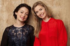 Antonia Prebble and Siobhan Marshall, stars of new TV3 show The Blue Rose