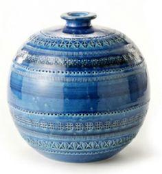 Rimini Blu Vase  21 von Aldo Londi - Bitossi