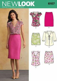 New Look 6107 blouse en rok | Naaipatronen.nl | zelfmaakmode patroon online