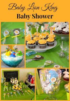 Lion King Lollipop Baby Shower Favors | http://flouronmyface.com/2015/03/lion-king-lollipop-baby-shower-favors.html