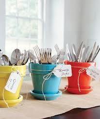 Flower pot utensil holder
