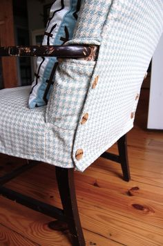 Love this idea  http://www.thenester.com/2010/07/upholstery.html