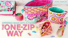 Zippered Bags with a Twist- One Way Zip Class - The Sewing Loft