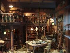 If I had a library it would look like this,  of course I would have to be very tiny.
