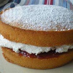 Traditional Victoria sponge recipe - All recipes UK. Simple elegant dessert that surprisingly isn't to filling. Perfect Sponge Cake Recipe, Sponge Cake Recipes, Victoria Sponge Recipe, Victoria Sponge Cake, Delicious Desserts, Dessert Recipes, Dessert Ideas, Cake Ideas, Pudding Recipes