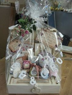 Wedding hamper I got made for a friends wedding. Marie's staff an, Clane Co.Killdare