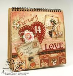 graphic 45 baby stamps | No Time To Stamp? » Graphic 45 Easel Album/February – by Darsie ...