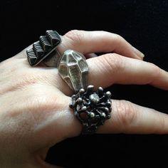 brutalist rings Brutalist, Rings For Men, Silver Rings, Jewellery, Men Rings, Jewels, Schmuck, Jewelry Shop, Jewlery