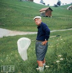 Just Nabokov catching butterflies