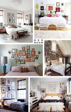 Gallery wall inspiration bedroom