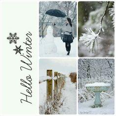 Hello winter. #moodboard #mosaic #collage♡