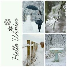 Hello winter. #moodboard #mosaic #collage #byJeetje♡