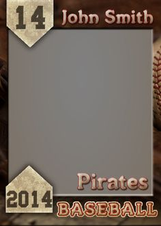 Baseball Trading Card  Photoshop Template by GoBluSkyDesign