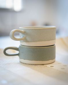 ceramic mugs | paper&clay for bulb design studio.