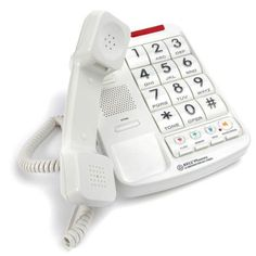 DTI Big-Button Corded Phone with Caller ID, Speakerphone, Hands-Free Dialing and Speaking Function, 16 Outgoing Call Memories, LCD Display and 20 Ringer Tone Selection Electronics Companies, Phones For Sale, Caller Id, Gadgets And Gizmos, Office Phone, Landline Phone, Cord, Big, Button