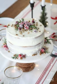 This Black Walnut Cake is a delicious Christmas Cake perfect for the holiday season! : This Black Walnut Cake is a delicious Christmas Cake perfect for the holiday season! Christmas Desserts, Christmas Treats, Christmas Baking, Christmas Eve, Xmas, Christmas Cake Decorations, Christmas Cupcakes, Food Cakes, Cupcake Cakes