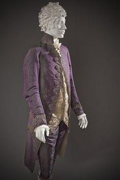 File:Man's shot silk suit c. 1790 altered c. 1805.jpg Purple & green shot silk