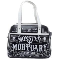 Inked Boutique - Workin Stiffs Bowler Purse Handbag Goth Psychobilly Macabre www.inkedboutique.com