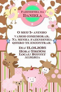 Convite digital personalizado Fazendinha 004