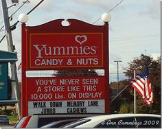 If you EVER go to Maine and happen to be driving on Route 1 in Kittery, you HAVE to stop at this store!  It opened back in the 80's, if I remember right, and I'd get some old-fashioned candies there. The store is an amazing treasure trove of hard-to-find candies! They have a website, too. And, no, I do not get paid to advertise, I just like to tell folks about a good thing.
