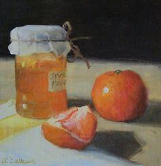 """Orange Marmalade"" - Original Fine Art for Sale - © by Liz Balkwill"