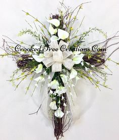 Image result for easter wreaths for cemetery vase
