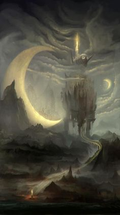 """""""...and the moon shall guide you to your destiny."""" See at Art - Environment, Pinterest."""