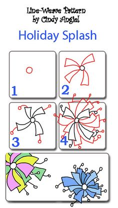 Holiday Splash Pattern Worksheet by Paint Chip, via Flickr