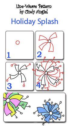 Holiday Splash Pattern Worksheet