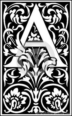 Illustration about Flowers decorative English alphabet, letter A, Black and White. Illustration of daisy, flower, illustration - 38517953 Decorative Alphabet Letters, Stencils, Painting The Roses Red, Illuminated Letters, Letter Art, Letters And Numbers, Colouring Pages, Paper Art, Illustration Art