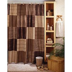 Landon leaf bath accessories i got the shower curtain for Matching bedroom and bathroom sets
