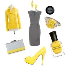 Business clothes - mustard and grey