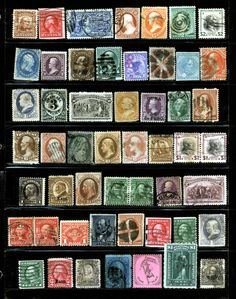 US Small Collector Lot of Mostly Used 19th & Early 20th Century 49 Items  - Browse 1,500 Rare Stamps http://stores.ebay.com/Little-Art-Treasures