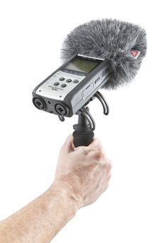 Portable Recorder Audio Kit Zoom H4N with combined Windshield, Suspension and Extension Handle Kit