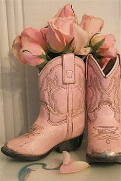 Roses and pink cowboy boots